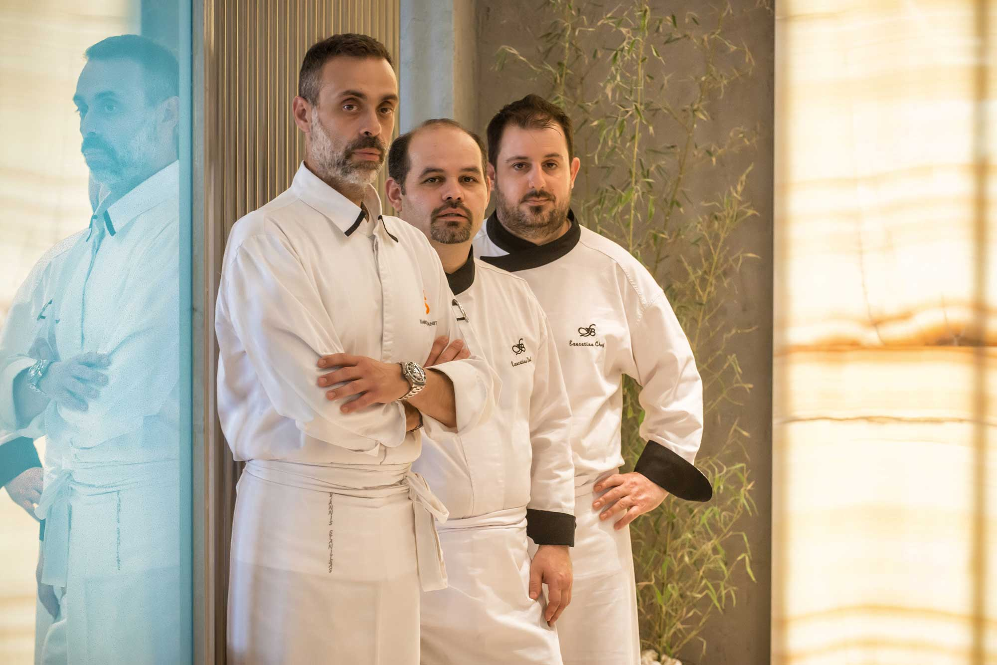 Chef Yannis Stanitsas and team.