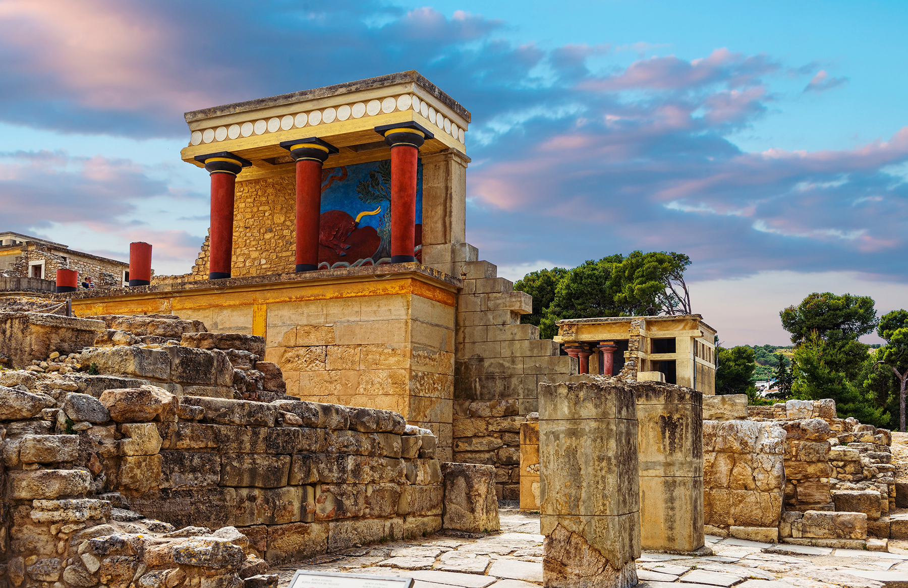 The minoan palace of Knossos in Heraklion
