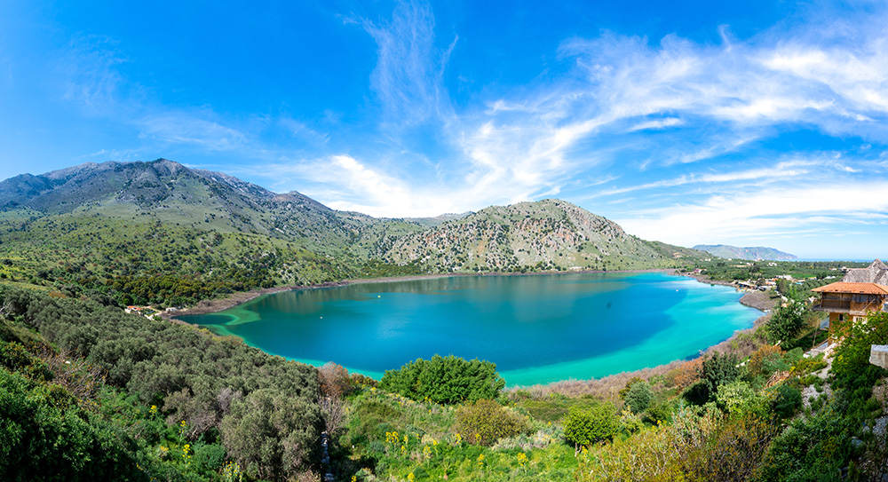 Destination Lake Kournas: Sunbathing and Donkey Walks